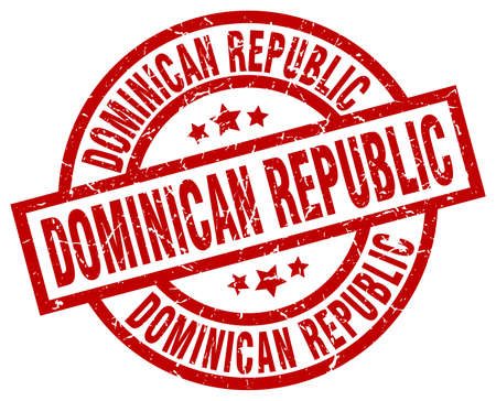 Dominican Republic red round grunge stamp
