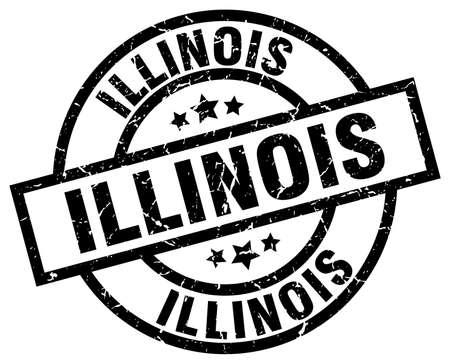 Illinois black round grunge stamp