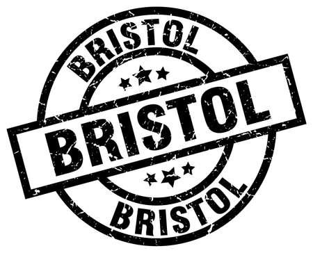 bristol: Bristol black round grunge stamp