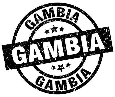 gambia: Gambia black round grunge stamp Illustration