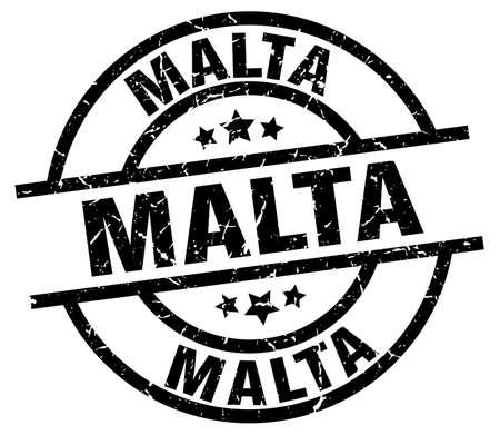 malta: Malta black round grunge stamp