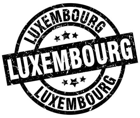 Zwarte ronde grunge stempel Luxemburg Vector Illustratie