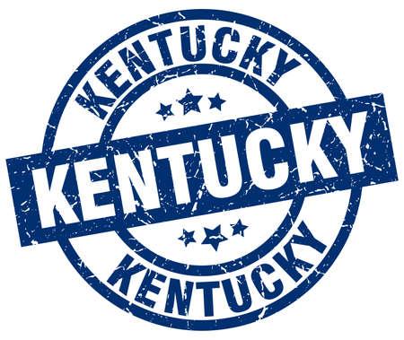 Kentucky blue round grunge stamp Illustration