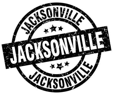 Jacksonville black round grunge stamp