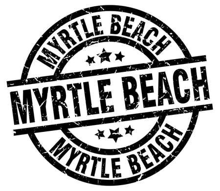 Myrtle Beach black round grunge stamp