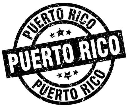 Puerto Rico black round grunge stamp