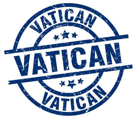 Vatican blue round grunge stamp Çizim