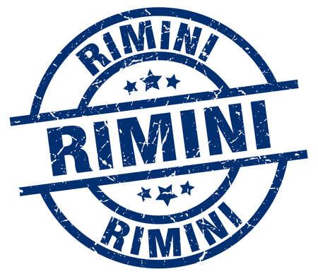 Rimini blue round grunge stamp