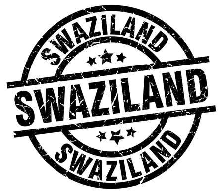 Swaziland black round grunge stamp Illustration