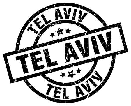 tel aviv: Tel Aviv black round grunge stamp Illustration