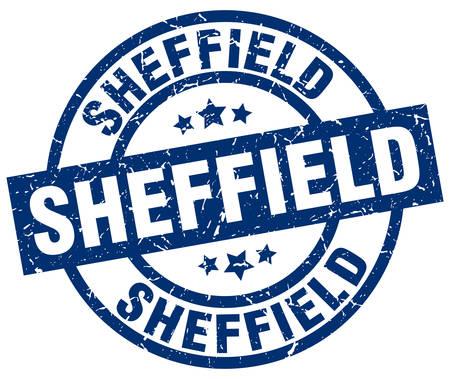 Sheffield blue round grunge stamp