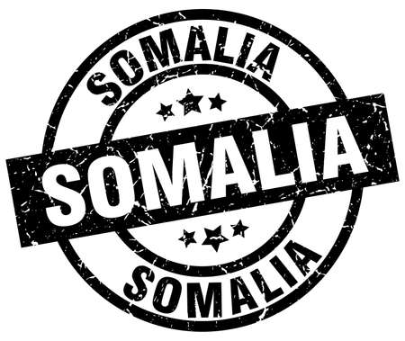 Somalia black round grunge stamp