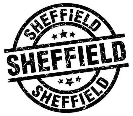 Sheffield black round grunge stamp