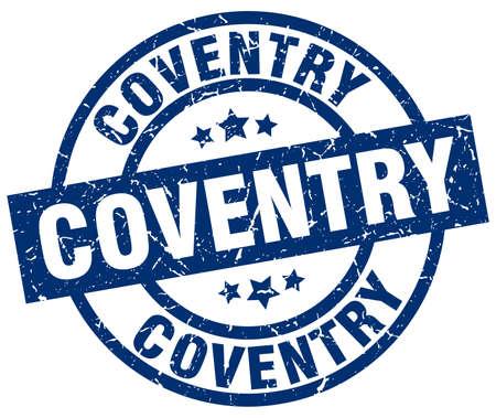 Coventry blue round grunge stamp Illustration