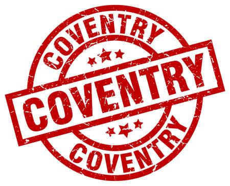 Coventry red round grunge stamp