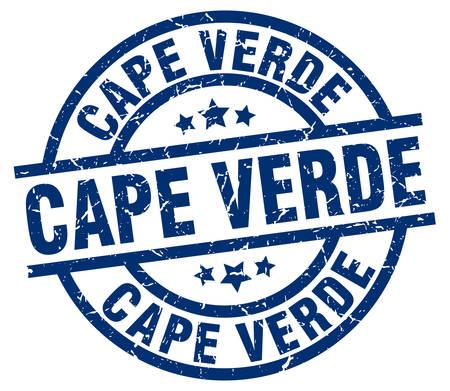 Cape Verde blue round grunge stamp Vector Illustration