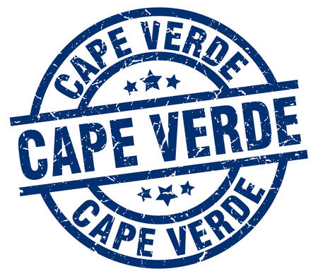 Cape Verde blue round grunge stamp