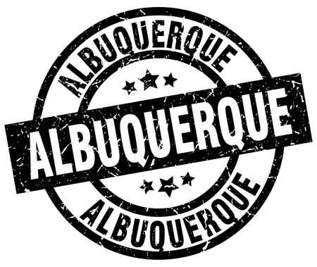 albuquerque: Albuquerque black round grunge stamp