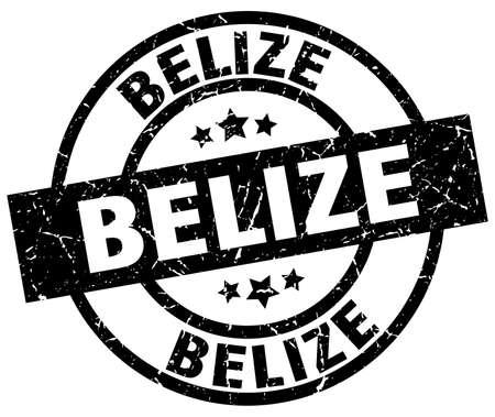 Belize black round grunge stamp