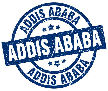 Addis Ababa blue round grunge stamp