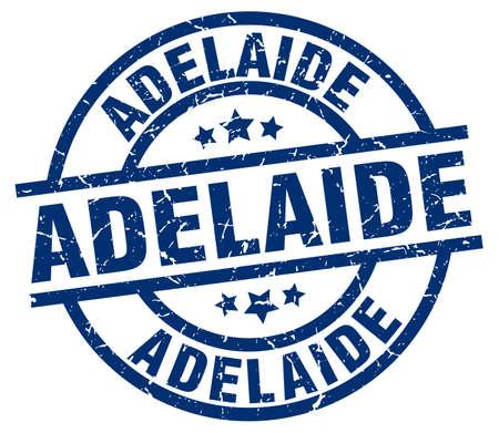 Adelaide blue round grunge stamp