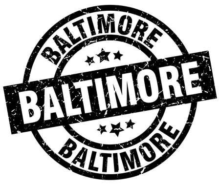 Baltimore black round grunge stamp Illustration