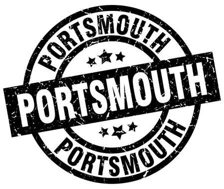 Portsmouth black round grunge stamp Illustration