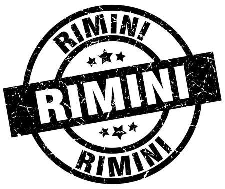 Rimini black round grunge stamp