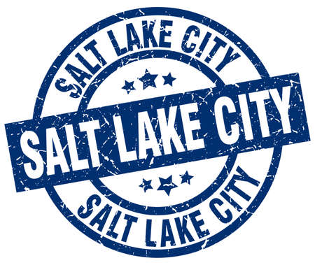 Salt Lake City blue round grunge stamp Illustration