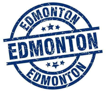 Edmonton blue round grunge stamp Illustration