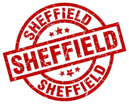 Sheffield red round grunge stamp