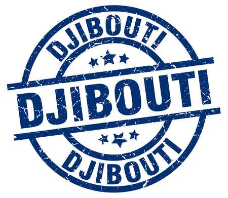 Djibouti blue round grunge stamp Illustration