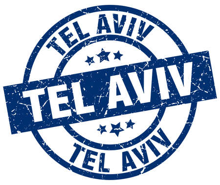 tel aviv: Tel Aviv blue round grunge stamp Illustration