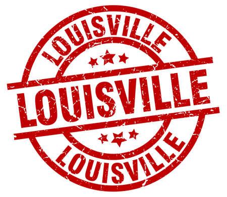 louisville: Louisville red round grunge stamp Illustration