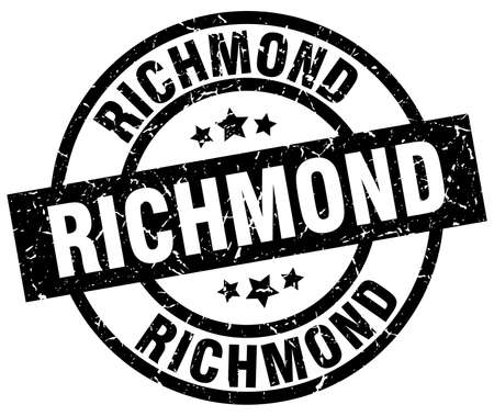 Richmond black round grunge stamp