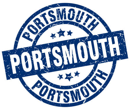 Portsmouth blue round grunge stamp