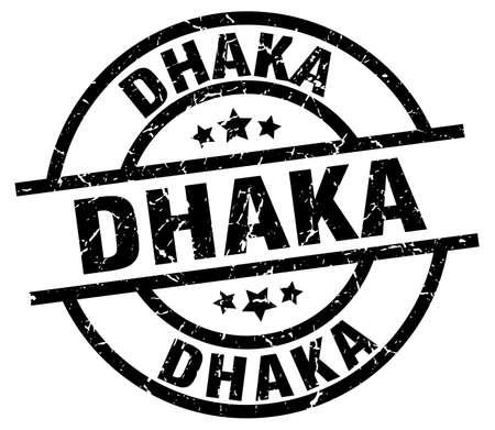 Dhaka black round grunge stamp