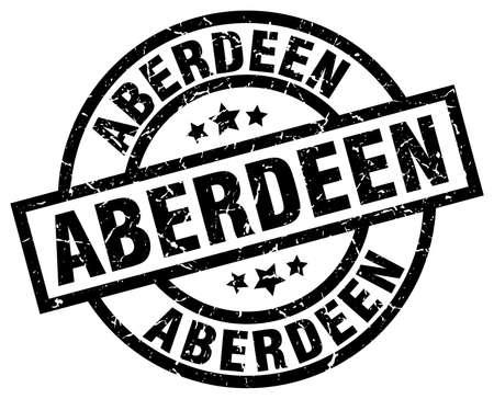Aberdeen black round grunge stamp