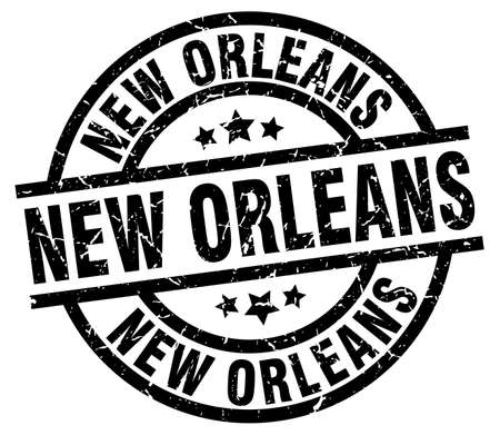 New Orleans black round grunge stamp