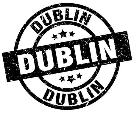 Dublin black round grunge stamp Illustration