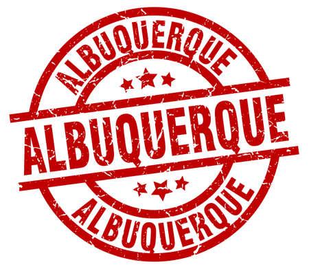 albuquerque: Albuquerque red round grunge stamp Illustration