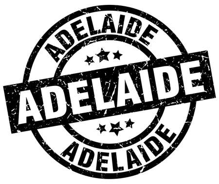 Adelaide black round grunge stamp Illustration