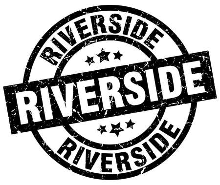 Riverside black round grunge stamp Stock fotó - 79749309
