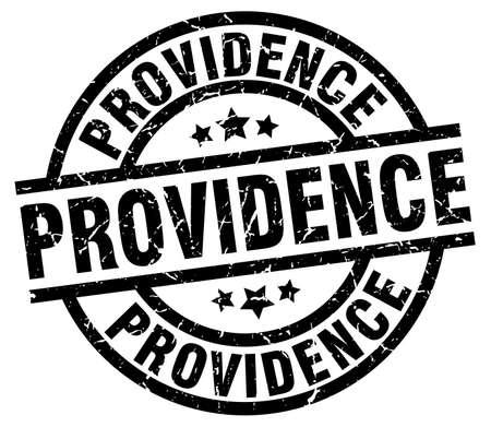 providence: Providence black round grunge stamp Illustration