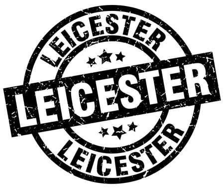 Leicester black round grunge stamp Illustration