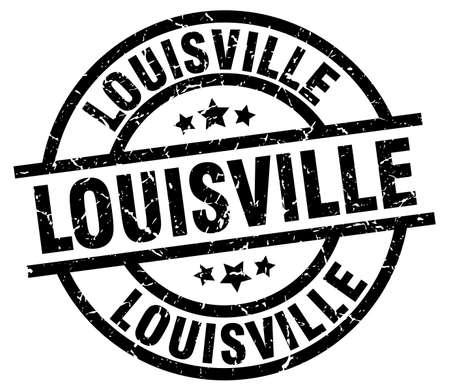 louisville: Louisville black round grunge stamp Illustration
