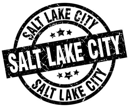 Salt Lake City black round grunge stamp