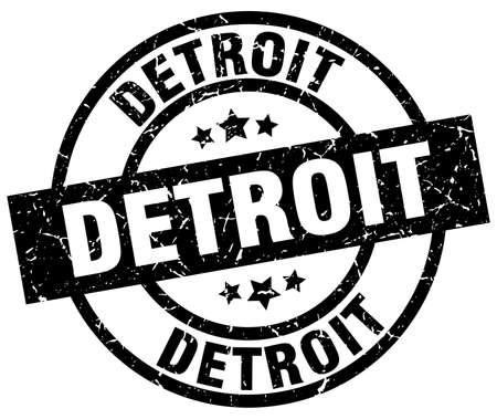 detroit: Detroit black round grunge stamp