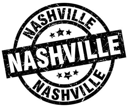Nashville black round grunge stamp Stock Vector - 79748891