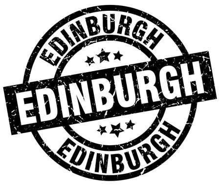 Edinburgh black round grunge stamp Illustration